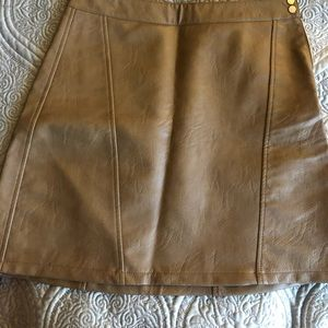 Zara leather-like skirt